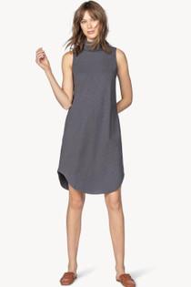 Mock Neck Shirttail Dress