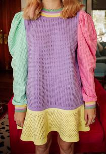 Rainbow Colorblock Dress