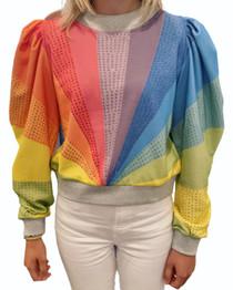 Rainbow Puff Sleeve Sweatshirt