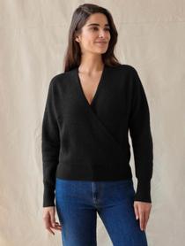 Rib Stitch Wrap Sweater
