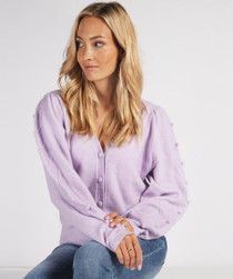 Lilac Button Up Cardigan