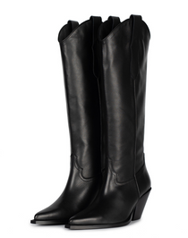 Leather Knee-High Toral Boot