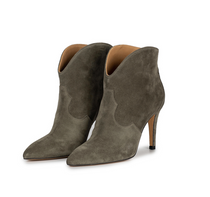 Khaki Suede Toral Ankle Boot