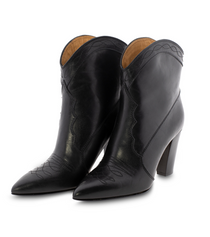 Western Chic Leather Ankle Toral Boot