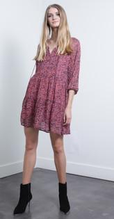 Sofia Print Mini Dress
