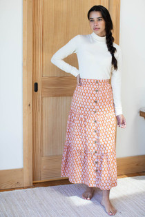 Lake Button Front Skirt