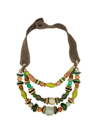 Layered Classic Necklace - Camo