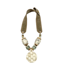 Mid Pendant Necklace - Stone