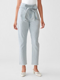 Susie Paperbag High Rise Tapered Jeans