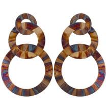 Burnished Tri-Circle Earring