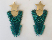 Mosaic Ombre Star Triangle Earring