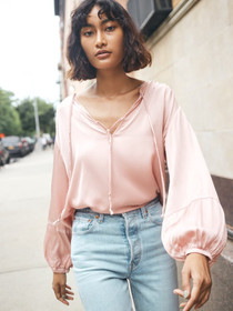 Sandra Seamed Peasant Blouse