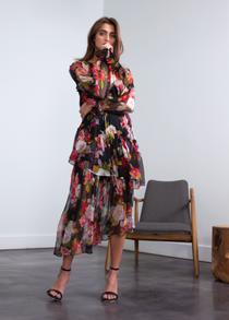 Elena Print Dress