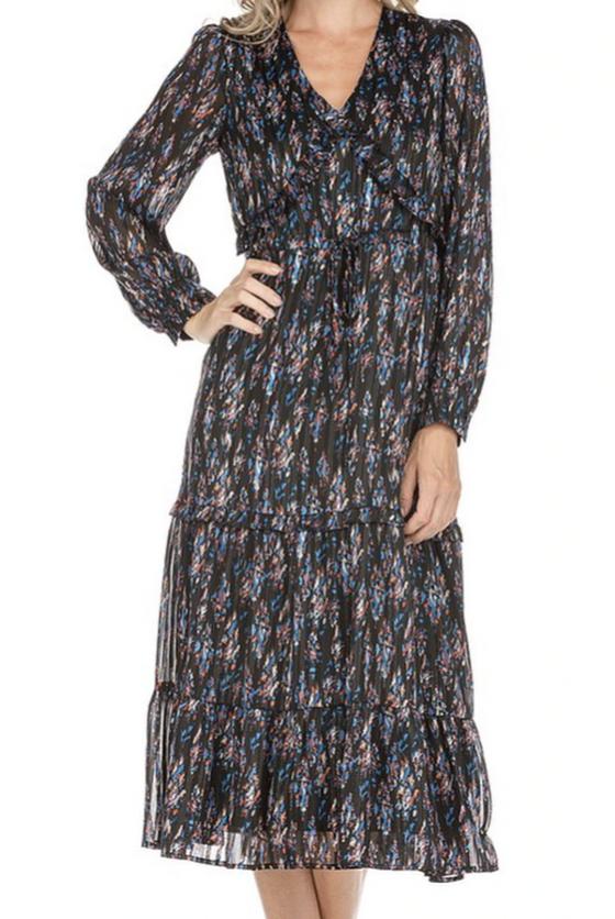 Abstract Midi Dress