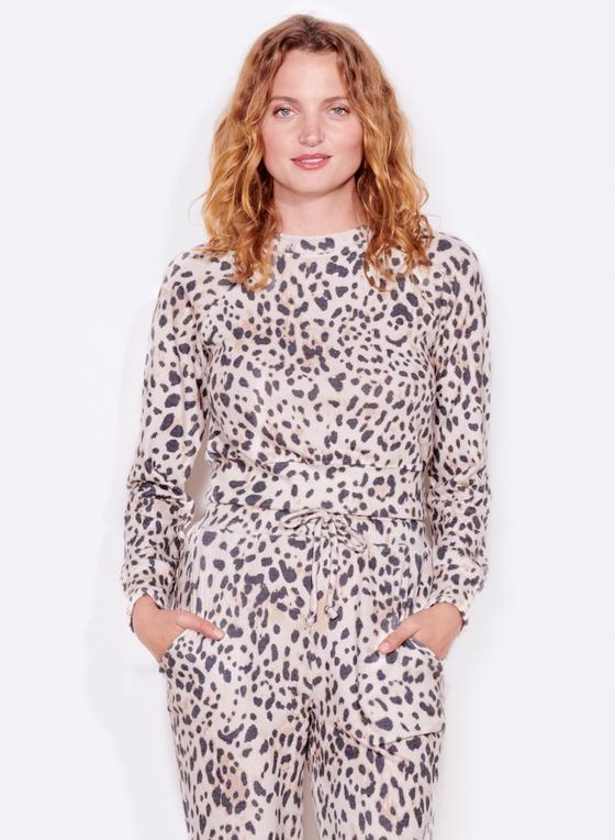 Leopard Crop Raglan