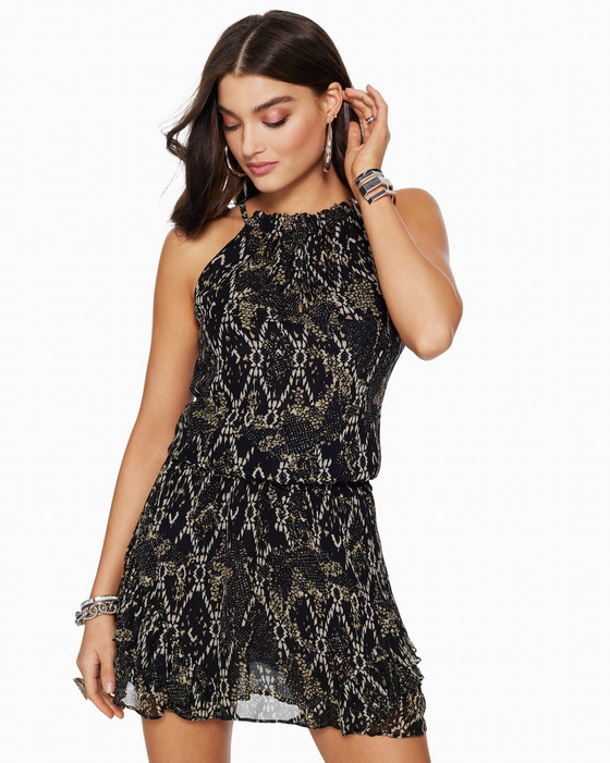 Printed Jewel Dress