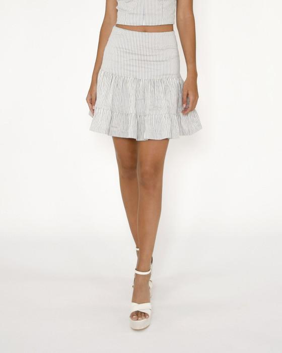 Cotton Metal Stripe Skirt