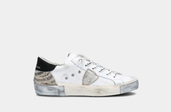 PRSX Mixage Animal Blanc Gris Zebra Sneaker