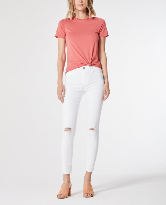 Farrah Skinny Ankle Uncharted White