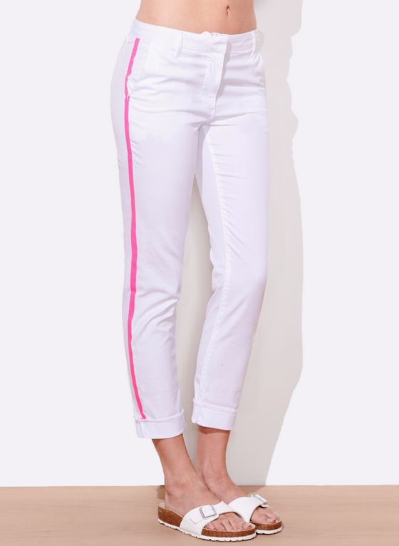 Roll Up Trouser with Stripe