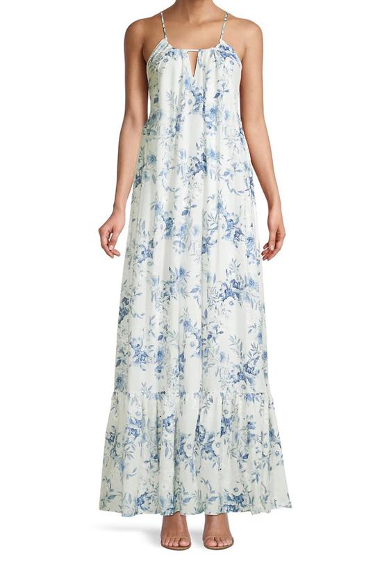 Print Eyelet Maxi Dress