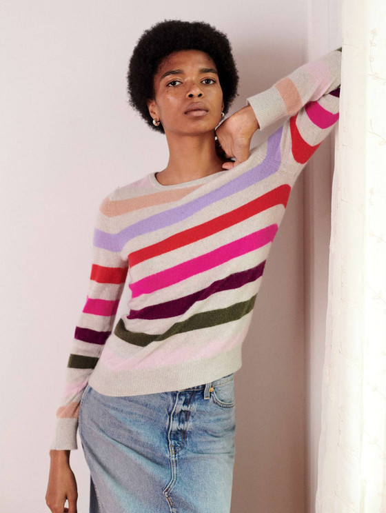 Multi Stripe Crew Neck