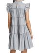 Poplin Tiered Mini Dress