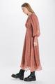 Floral Lurex Print Midi Dress