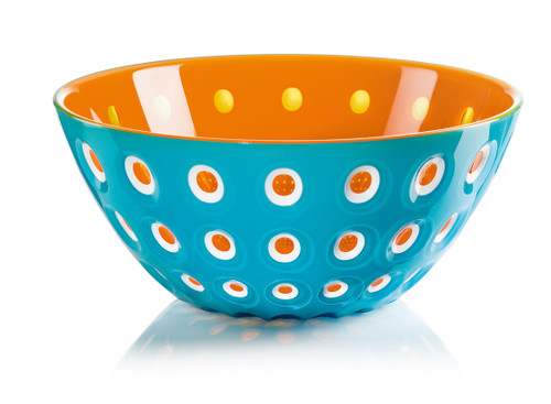 25cm Bowl - Blue/White/Orange