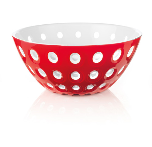 25cm Bowl - Red/White/Transparent