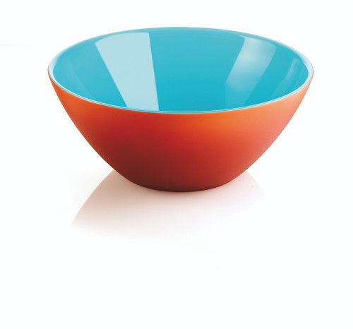 25cm Bowl - Sea Blue/White/Coral