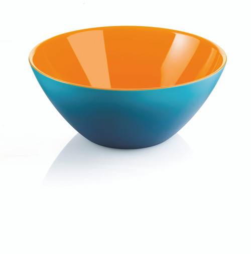 25cm Bowl - Orange/White/Sea Blue