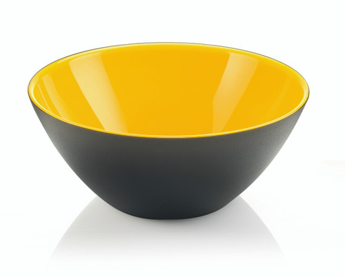 25cm Bowl - Yellow/White/Black