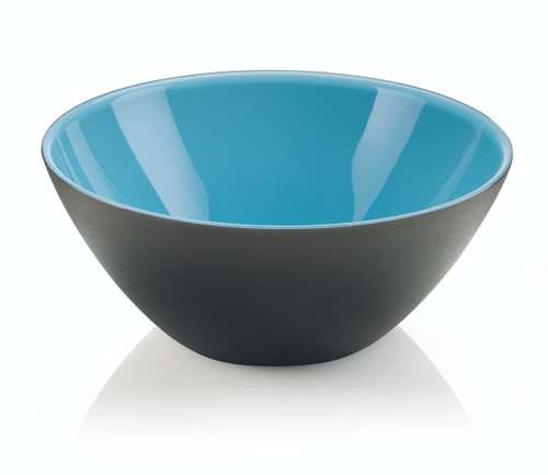 25cm Bowl - Blue/White/Black