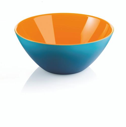 20cm Bowl - Orange/White/Sea Blue