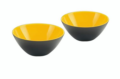 Set of 2 Bowls 12cm - Yellow/White/Black