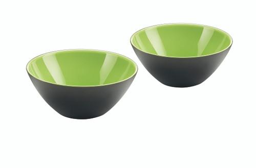 Set of 2 Bowls 12cm - Kiwi/White/Black