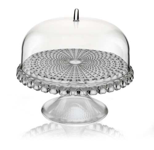 Grey Small Cake Stand With Dome