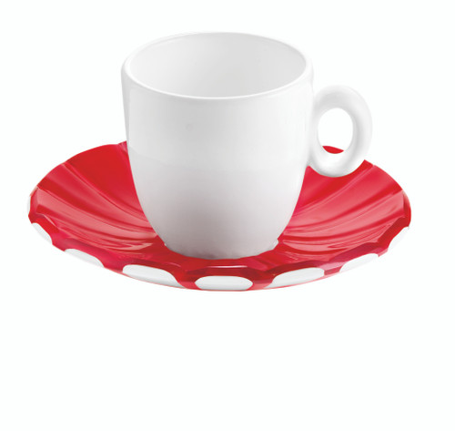 Red Set 2 Espresso Cups