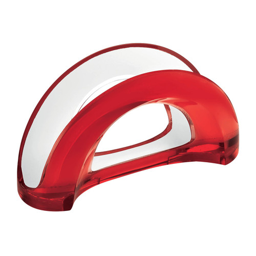 Red Two-Tone Table Napkin Holder