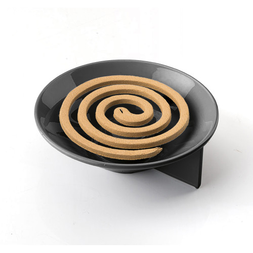 Rapa Nui Black Mosquito Coil, Candle, Incense Holder