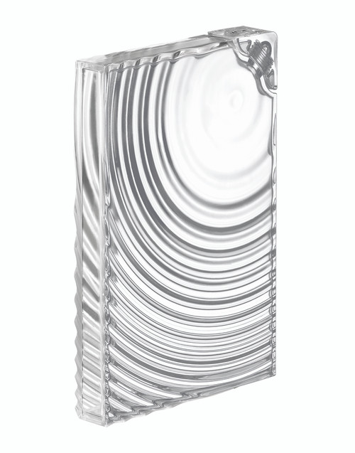 Transparent Ripples Flat Pack Water Bottle