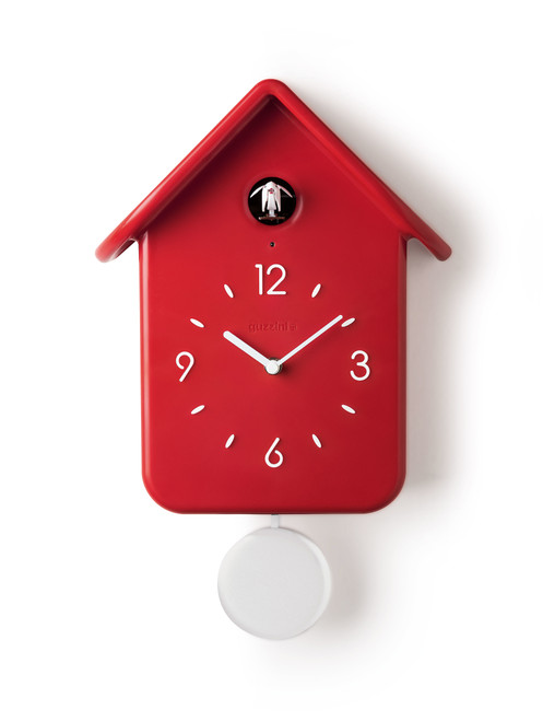 Red QQ Cuckoo Clock with Pendulum