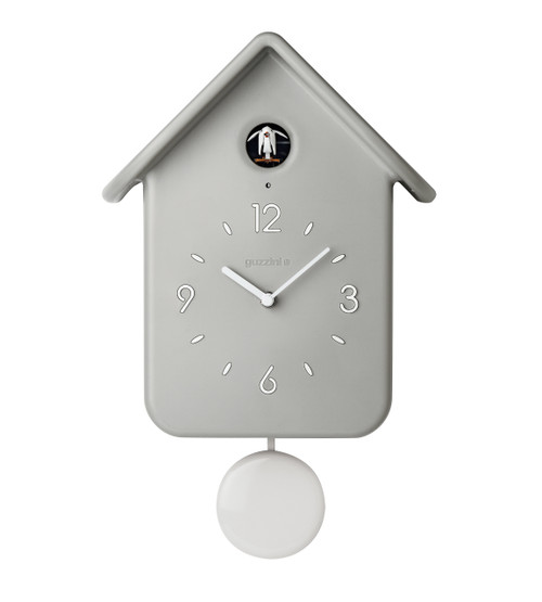 Grey QQ Cuckoo Clock with Pendulum