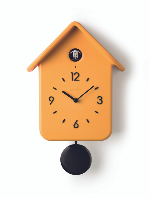 Yellow QQ Cuckoo Clock with Pendulum