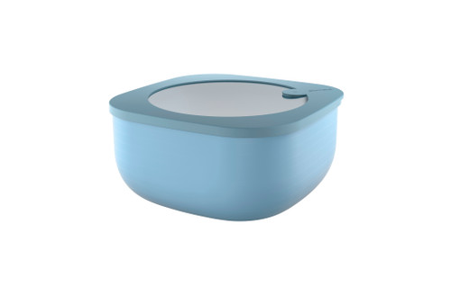 Matt Blue Store & More 1.9L Shallow Airtight Container