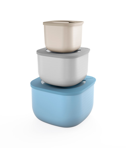 Store & More Set of 3 Deep Airtight Containers