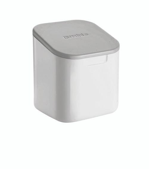 Grey 'Not Only Salt' Storage Jar