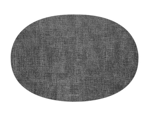Oval Fabric Reversible Grey Placemat