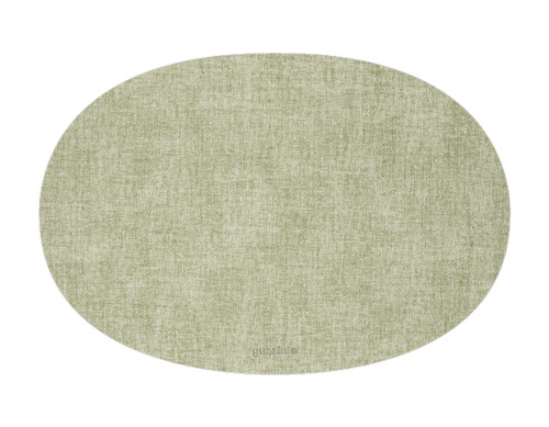 Oval Fabric Reversible Spearmint Placemat